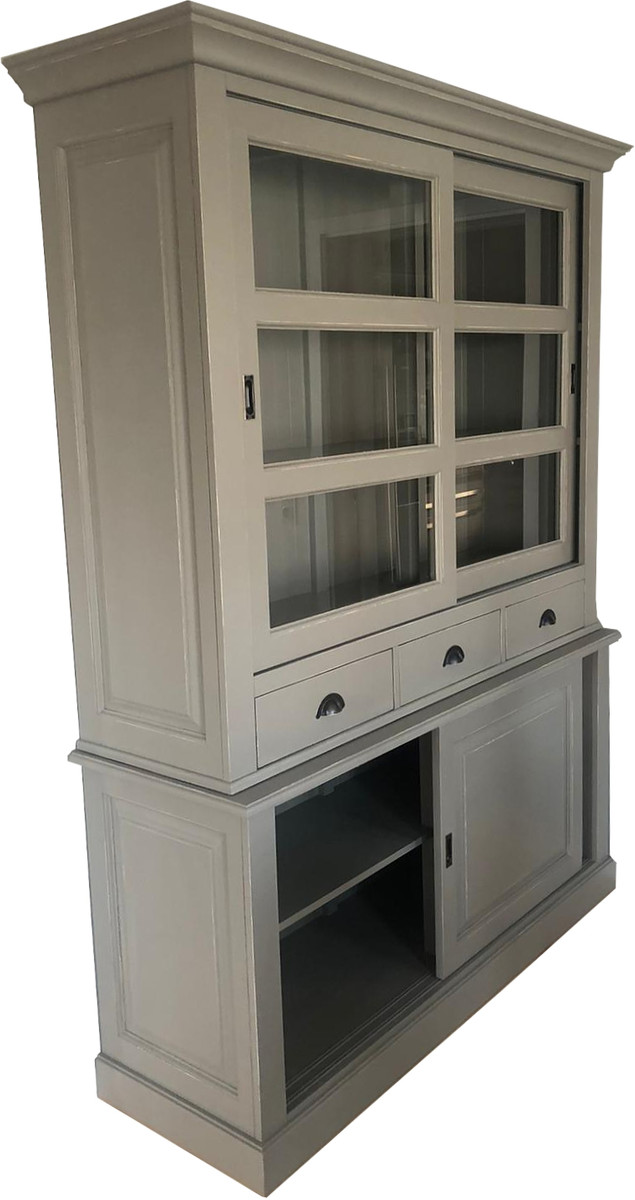 Romantic shabby chic is a little bit white, a sprinkling of pastels, a few ruffles here and there, and all things vintage. Casa Padrino Shabby Chic Country Style Cabinet Buffet Cabinet 160cm Gray Buffet Cabinet Dining Room Solid Wood