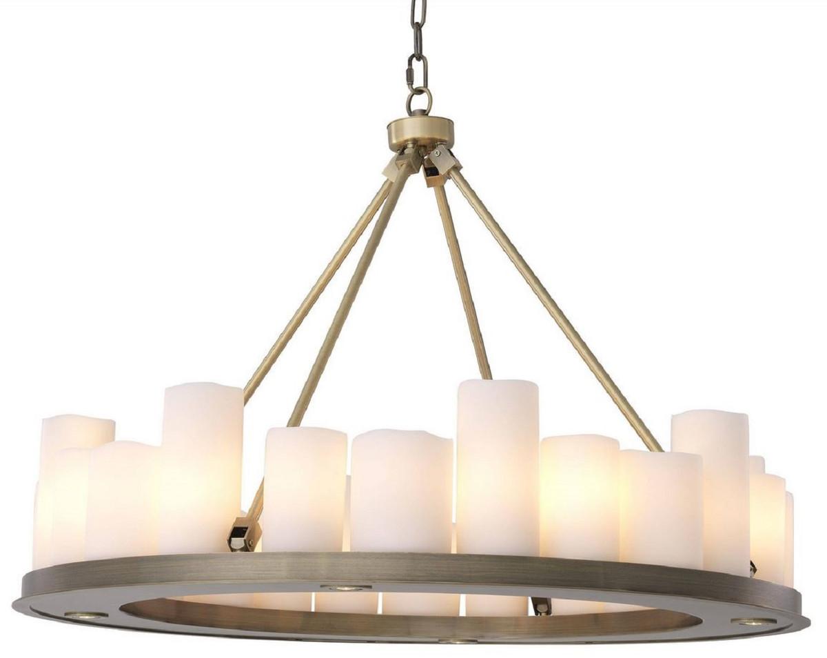 casa padrino lustre led de luxe laiton blanc o 90 x h 65 cm lustre rond moderne avec telecommande qualite de luxe