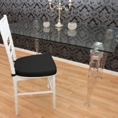 Acrylic Chairs With Cushions Chair Cover Ideas For Christmas Casa Padrino Designers Including White Black Ghost Furniture