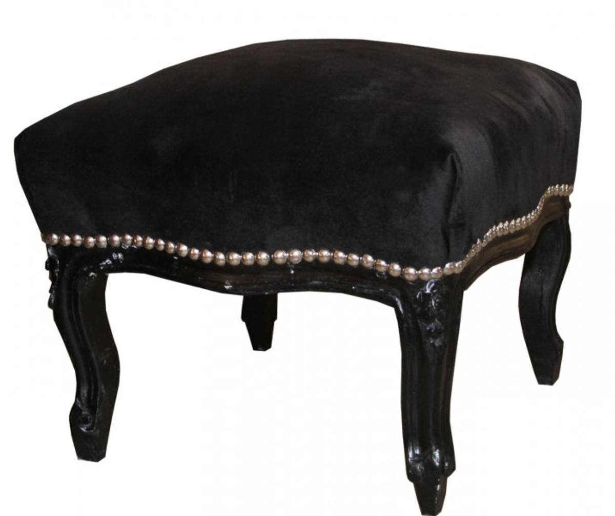casa padrino baroque ottoman medium black black antique furniture stools