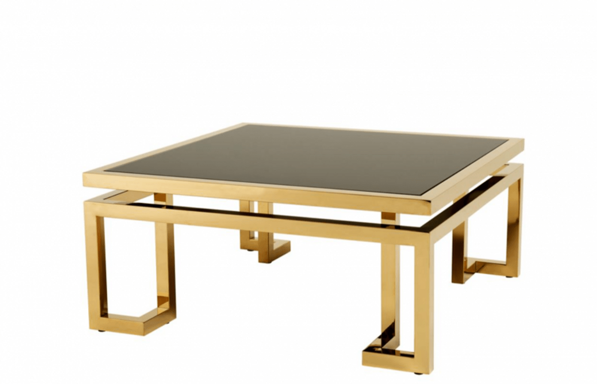 casa padrino art deco luxury coffee table gold with black glass living room coffee table luxury collection