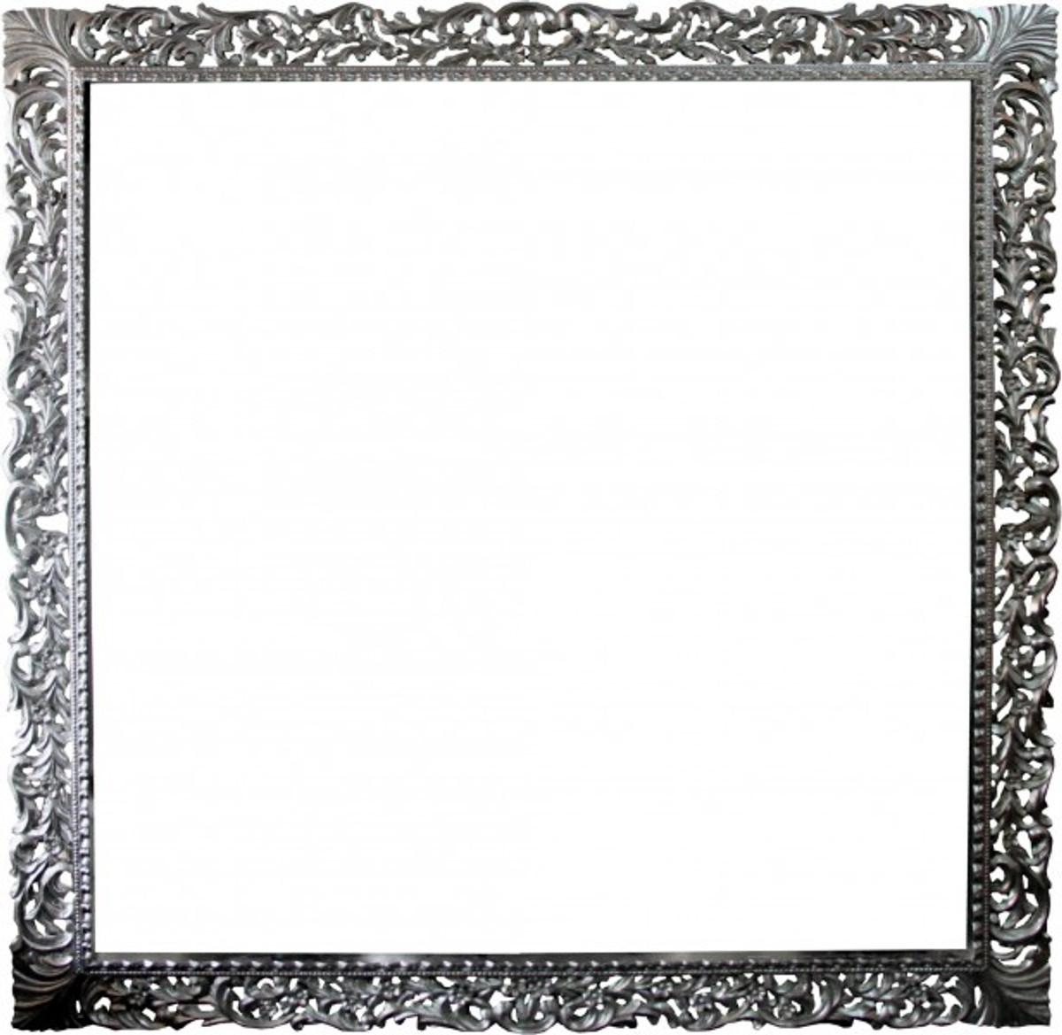 casa padrino baroque wood picture frame 150 x 160 cm silver large television picture frame art nouveau antique style