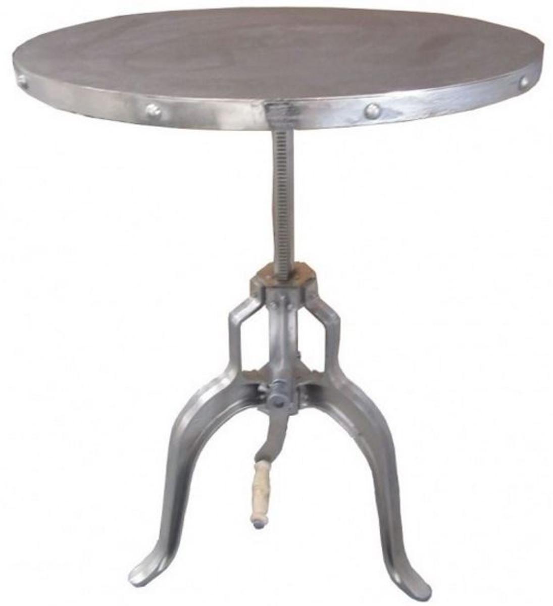table d appoint industrielle avec manivelle en argent casa padrino mobilier d hotel design design industriel table art nouveau