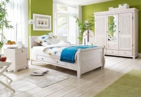 Massivholz Schlafzimmer Set 3teilig komplett Kiefer massiv ...