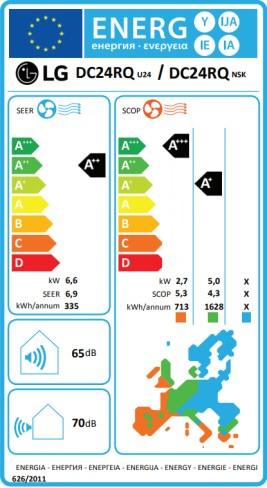 LG Klimaanlage DC24RQ.NSK + DC24RQ.U24 mit 6,6 kW Kühlleistung/ 7 ...
