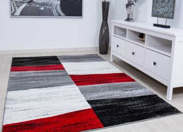 Wohnzimmer Rot Weiss Schwarz