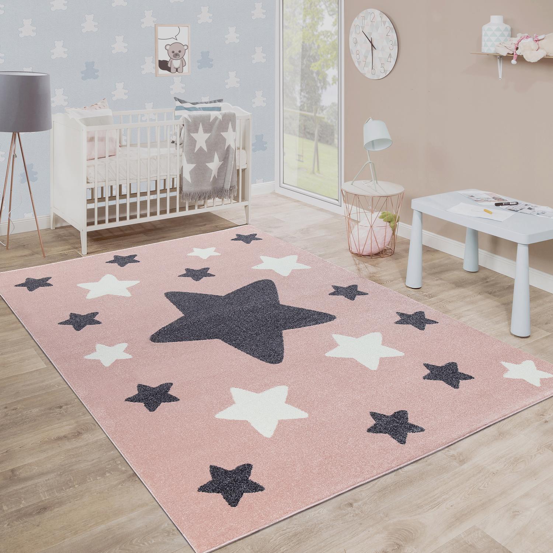 details sur tapis chambre enfant tapis enfant grands et petits etoiles rose gris