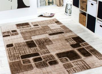 Einrichtungstipps Wohnzimmer Teppich | Designerteppich Retro Muster ...