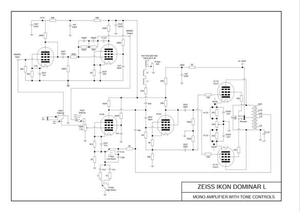 Pair Zeiss Ikon Dominar L cinema tube amplifier perfect