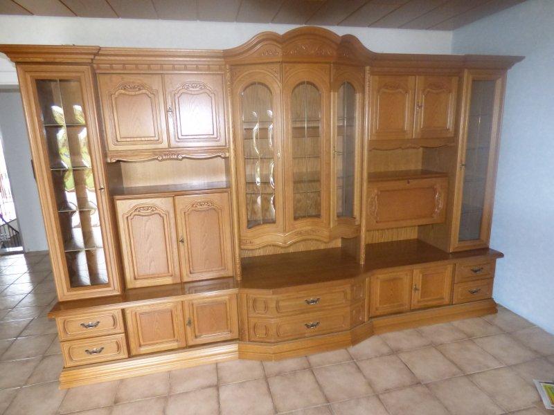 WohnzimmerschrankWandschrank Eiche Rustikal  eBay