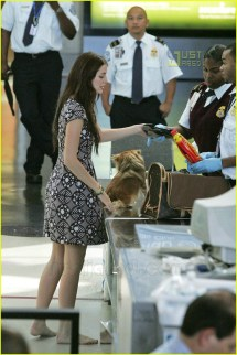 Barefoot at Airport Security