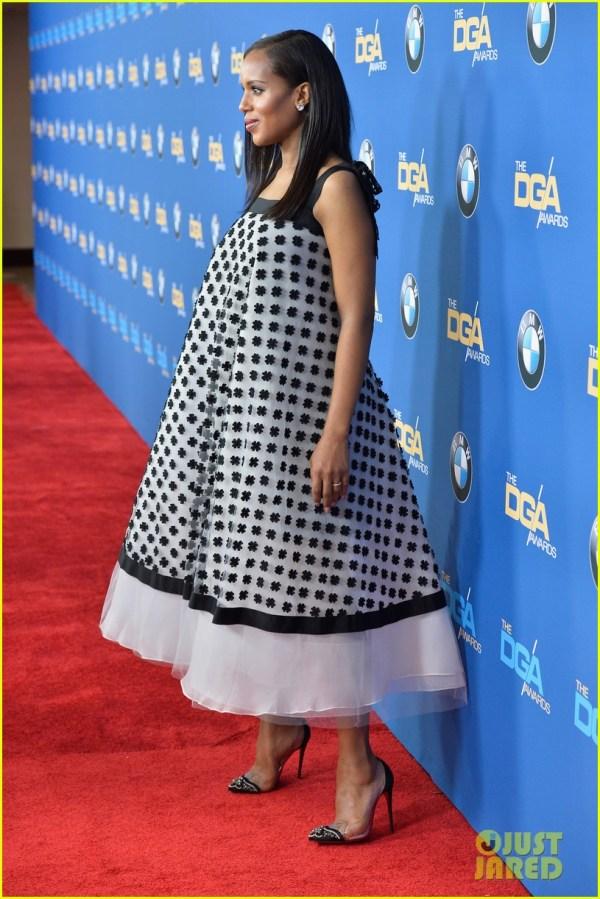 Kerry Washington' Baby Bump Fills Dress Dga Awards 3040259 2014