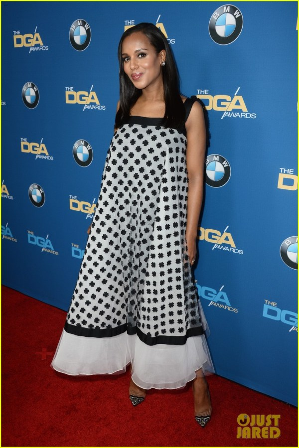 Kerry Washington' Baby Bump Fills Dress Dga Awards 3040266 2014