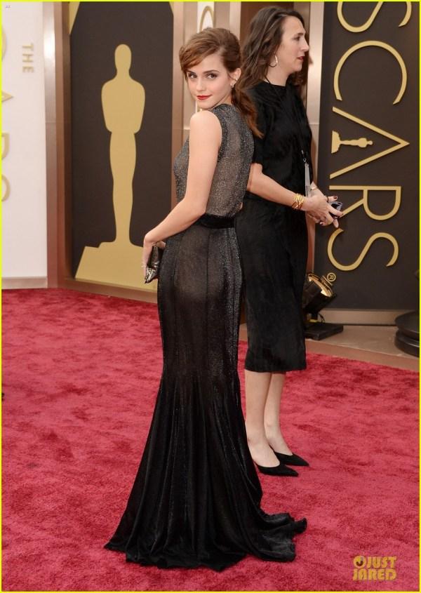 Emma Watson In Vera Wang - 2014 Oscars