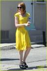 Emma Stone Dresses Yellow La La Land