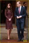 Kate Middleton Stuns In Lacy Purple Dress