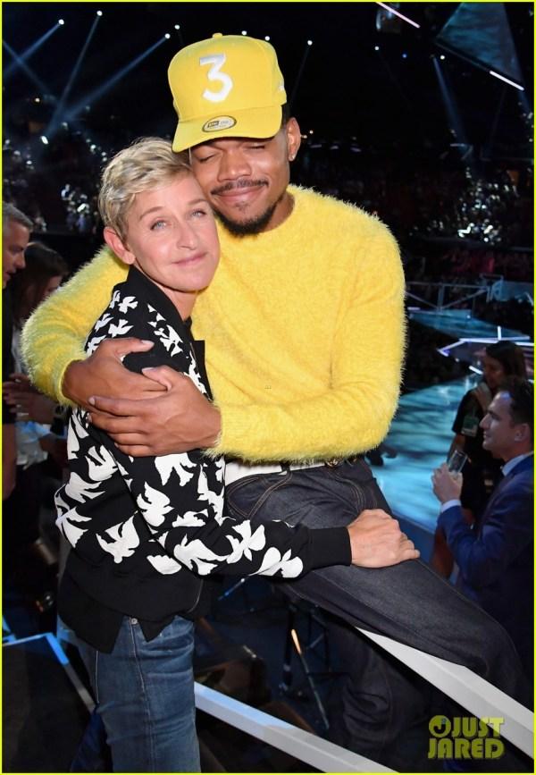 Chance the Rapper Ellen Hugging