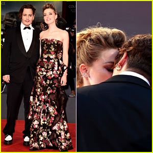 Johnny Depp & Amber Heard Share Sweet Kiss at 'Danish Girl' Venice Premiere!