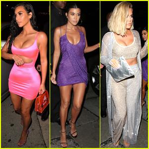 Kim, Kourtney, & Khloe Kardashian Arrive at Kylie Jenner's 21st Birthday Party!