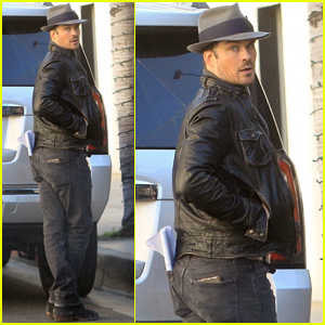 Ian Somerhalder Joins a Pal For Lunch in Beverly Hills!