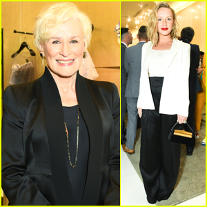 Glenn Close is Honored at Armani's Pre-Oscar Party!