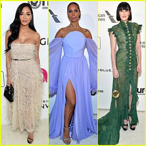 Nicole Scherzinger, Leona Lewis, & Rumer Willis Glam Up for Elton John's Oscar Party 2019