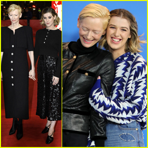 Tilda Swinton & Daughter Honor Promote Their Film 'The Souvenir' at Berlin Fillm Festival!