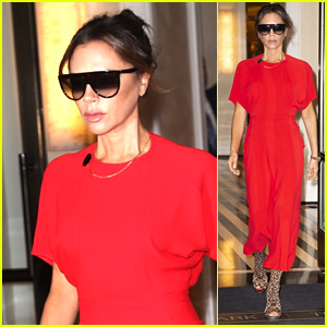 Victoria Beckham Steps Out Looking Chic in Red in NYC