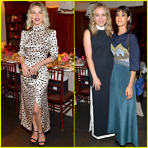 Julianne Hough & Sofia Boutella Support Poppy Jamie at Saks x Happy Not Perfect Dinner