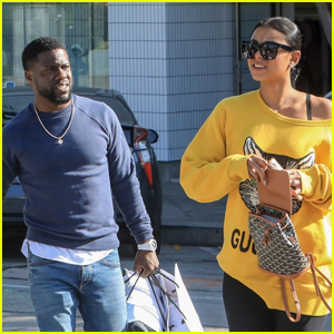 Kevin Hart Spends the Day Shopping with Wife Eniko in WeHo
