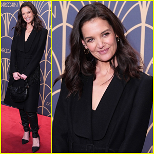 Katie Holmes Goes Head-to-Toe Black at Marc Cain Fashion Show!