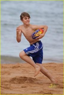 Justin Bieber No Shirt