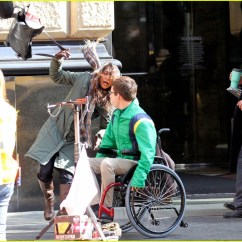 Wheelchair Glee Patton Swivel Chair Quote Kevin Mchale Run In On 39glee 39 Set Photo