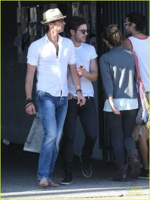 Zac Efron Wears Tight White Tee With Barefoot