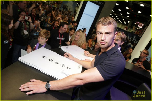 Theo James' Arms