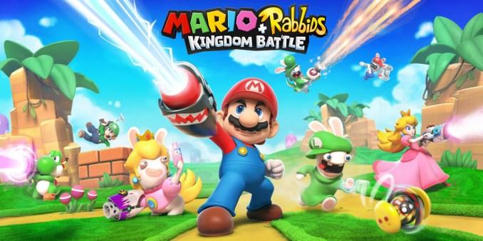 Das Foto zeigt das Cover von Mario + Rabbids Kingdom Battle.