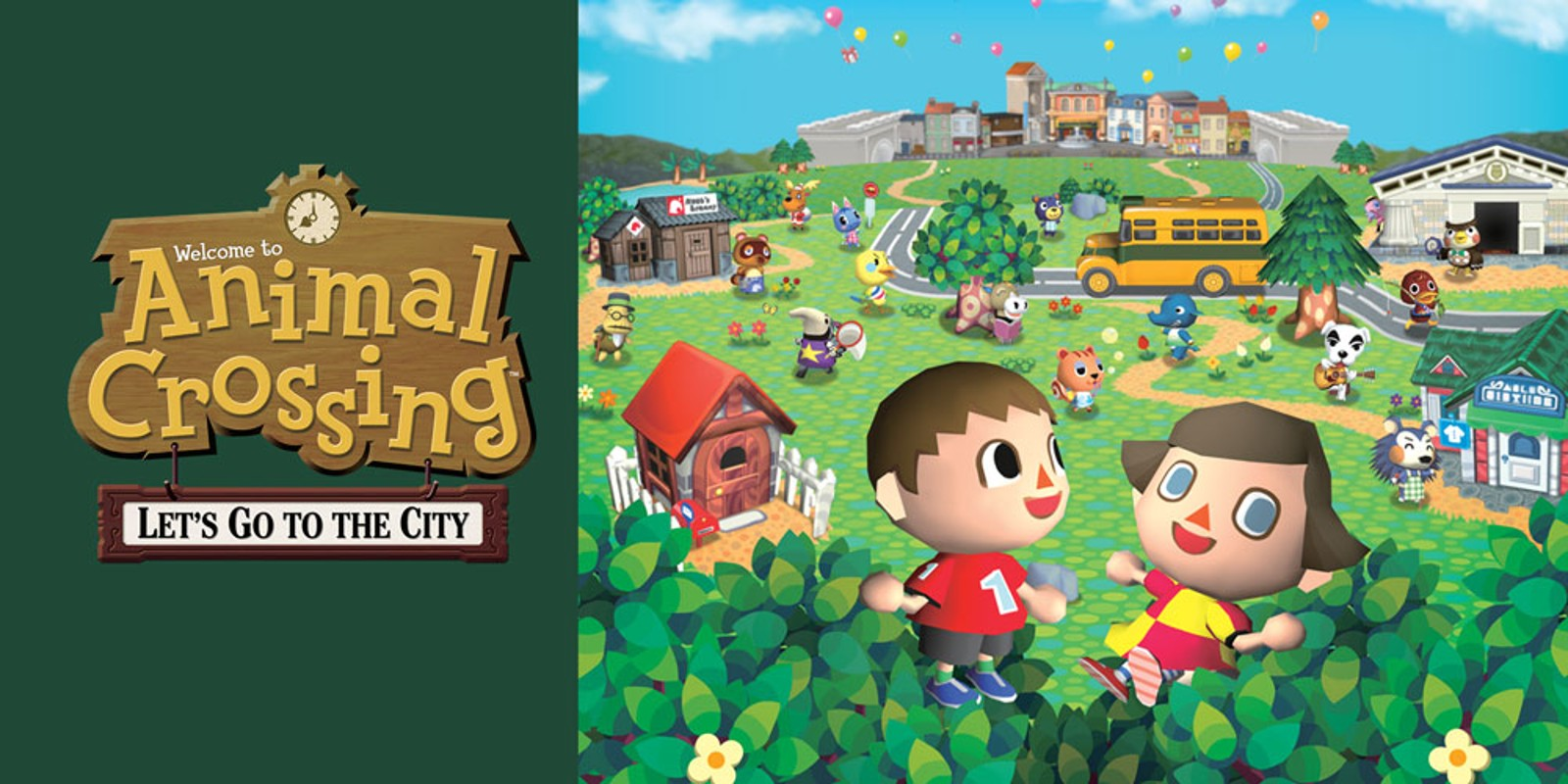 Animal Crossing Wild World Wallpaper Animal Crossing Let S Go To The City Wii Jeux Nintendo