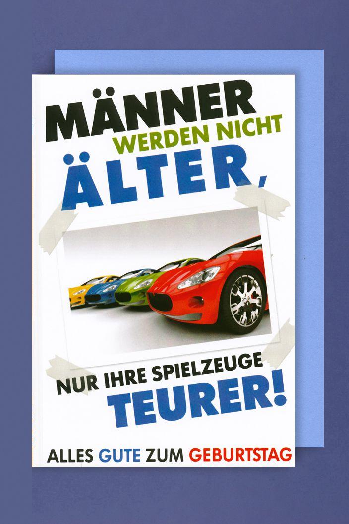 Mnner Geburtstag Karte Grukarte Rennwagen 16x11cm  contrade