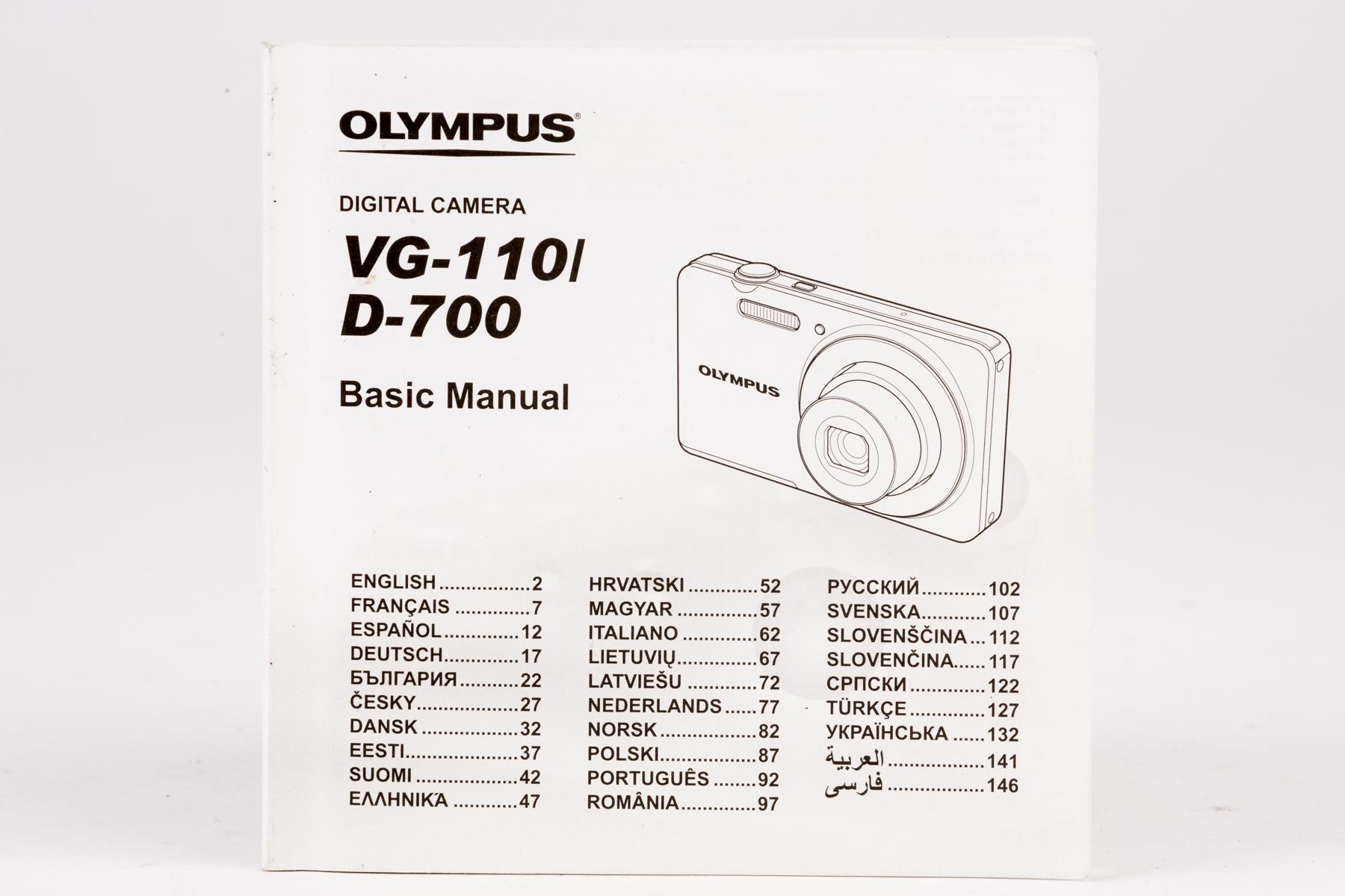 Bedienungsanleitung Olympus Digital Camera VG-110 l D-700