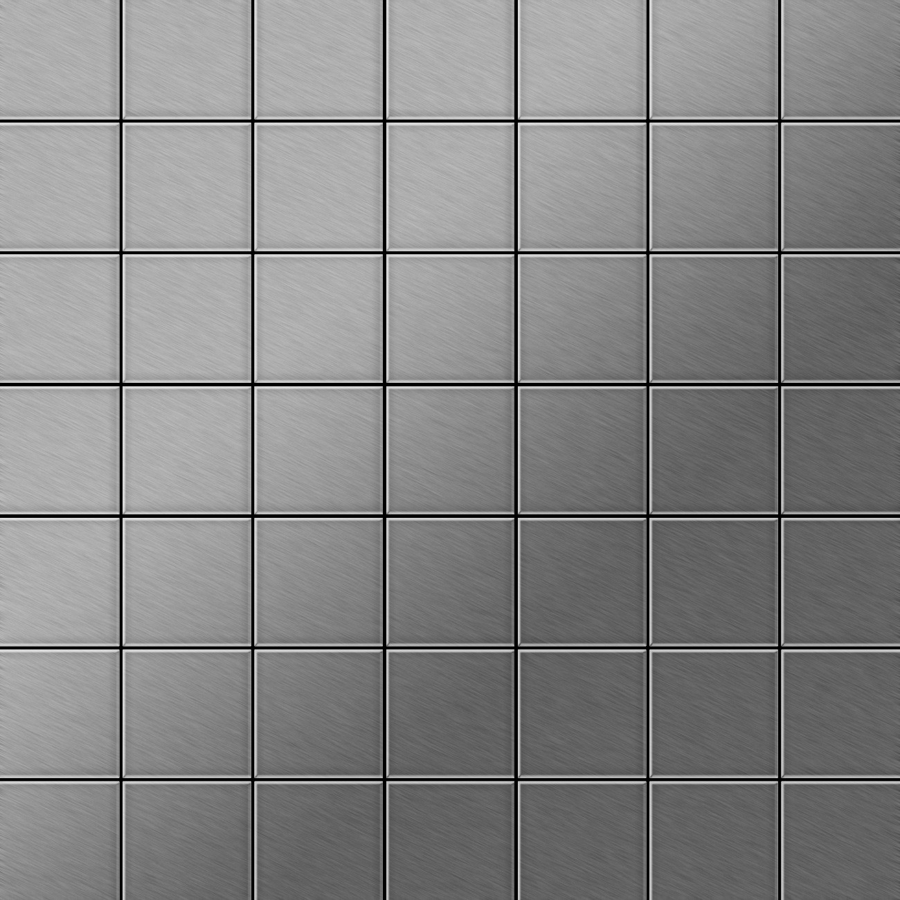 metal mosaic tile stainless steel marine brushed grey 1 6mm attica s s mb ceres webshop