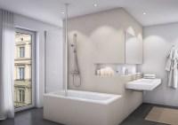 Badewannenaufsatz mit Seitenwand Duschwand feststehend 1 ...