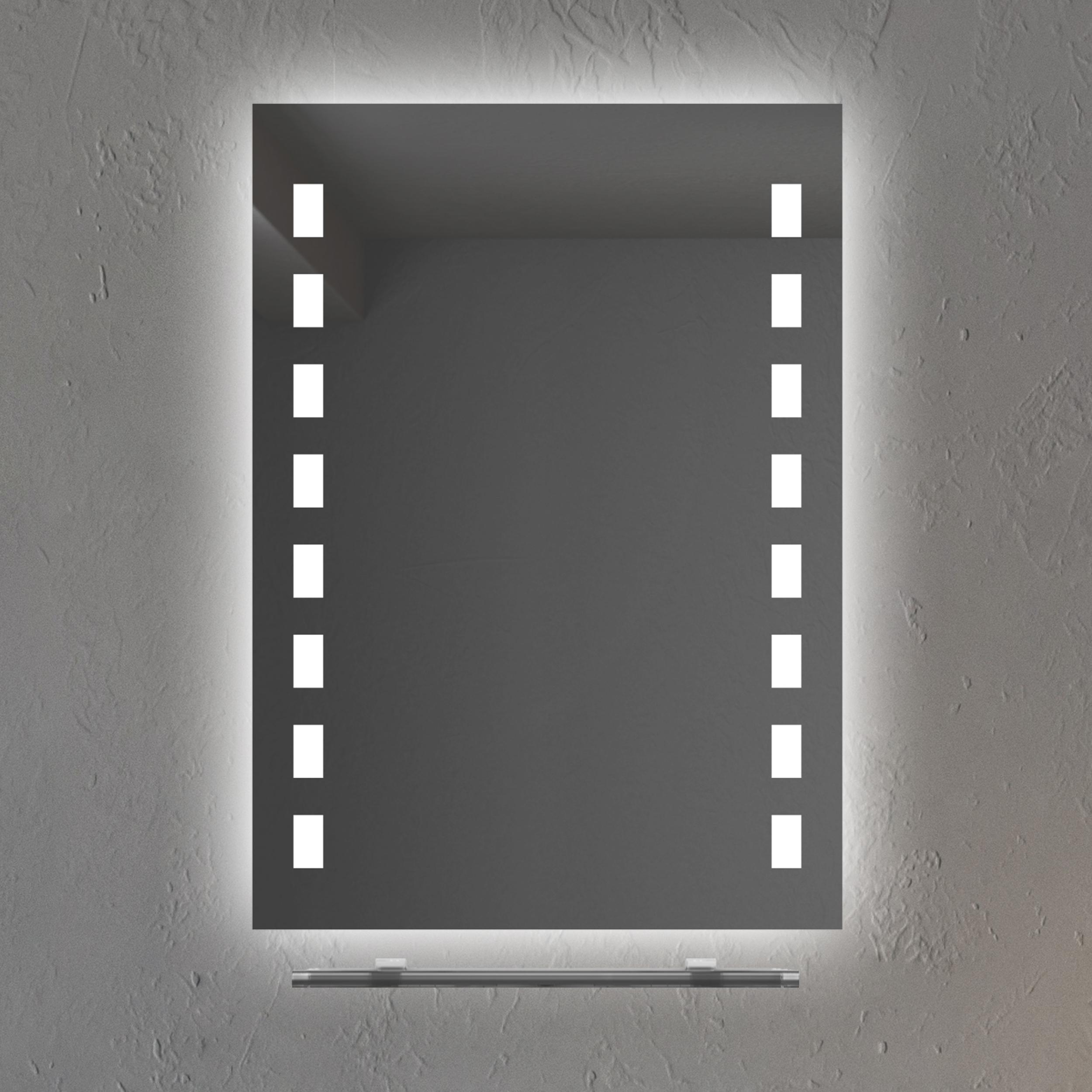 50 Nachlass LED Wandspiegel mit ABLAGE Badezimmer Beleuchtung LED Kaltwei  eBay