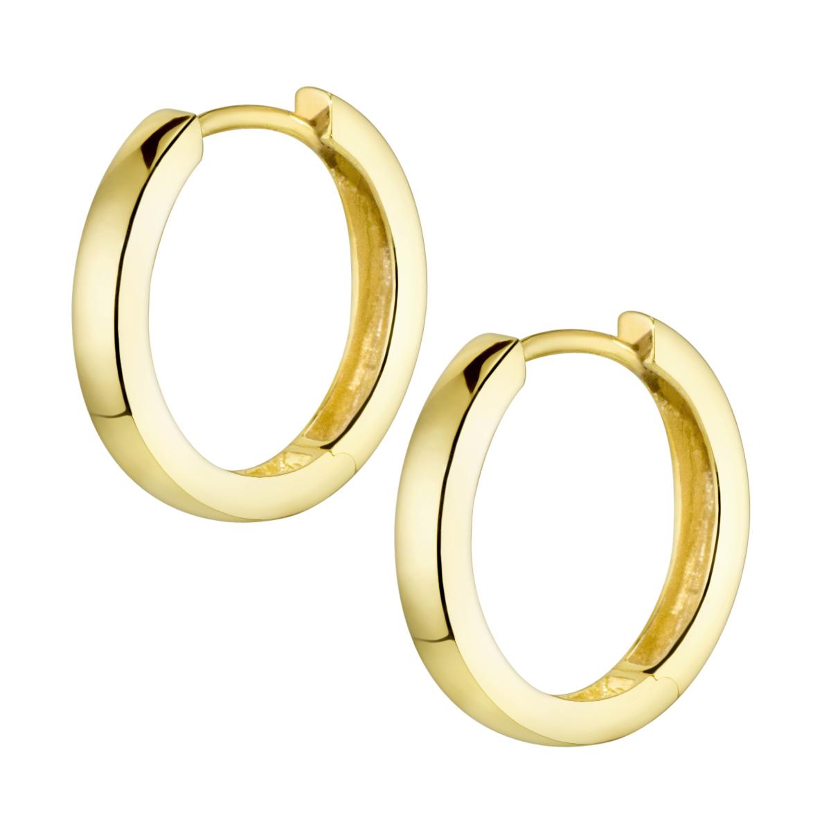 MATERIA Damen Mdchen Creolen Ohrringe Gold 17mm Silber 925 vergoldet klein  eBay