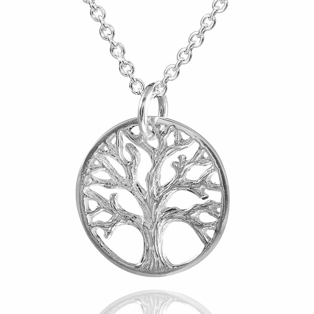 MATERIA Damen Anhnger Lebensbaum 925 Sterling Silber