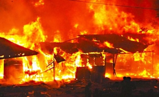 Many Shops Burnt to Ashes as Fire Razes Abia State Market