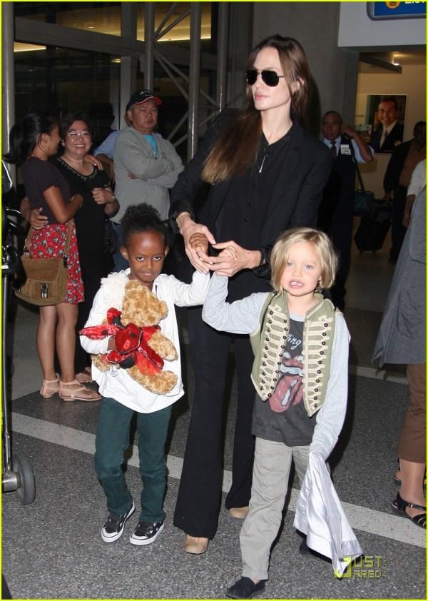 Angelina Jolie With Zahara