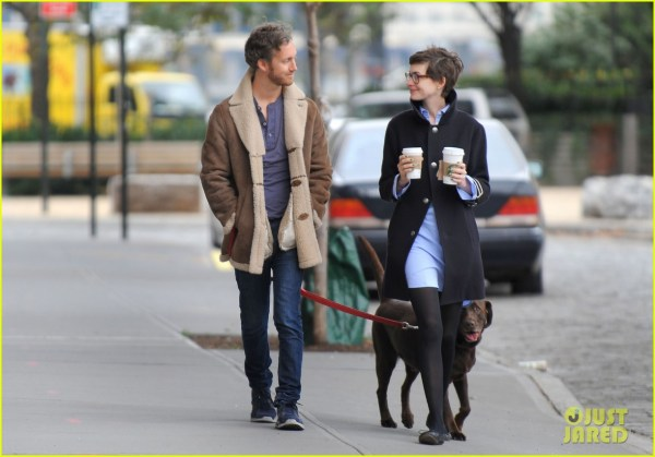 Anne Hathaway & Adam Shulman Coffee Dog Walk 2745071