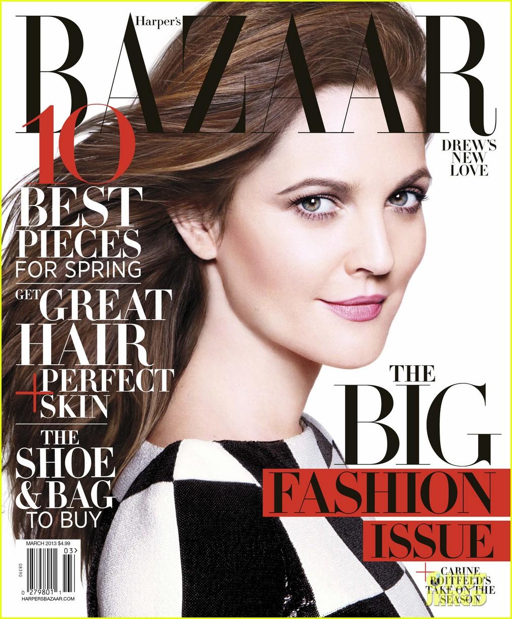 024fc5ae6dd Drew Barrymore wearing Louis Vuitton for Harper s Bazaar 2013