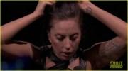 lady gaga reveals real hair