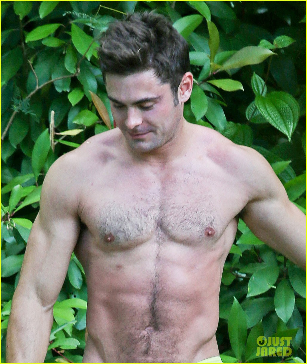 zac efron shirtless hawaii more ripped than ever 13